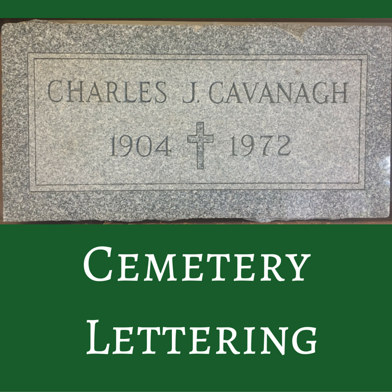 Cemetery Lettering